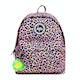 Hype Rainbow Leopard Pom Pom Backpack