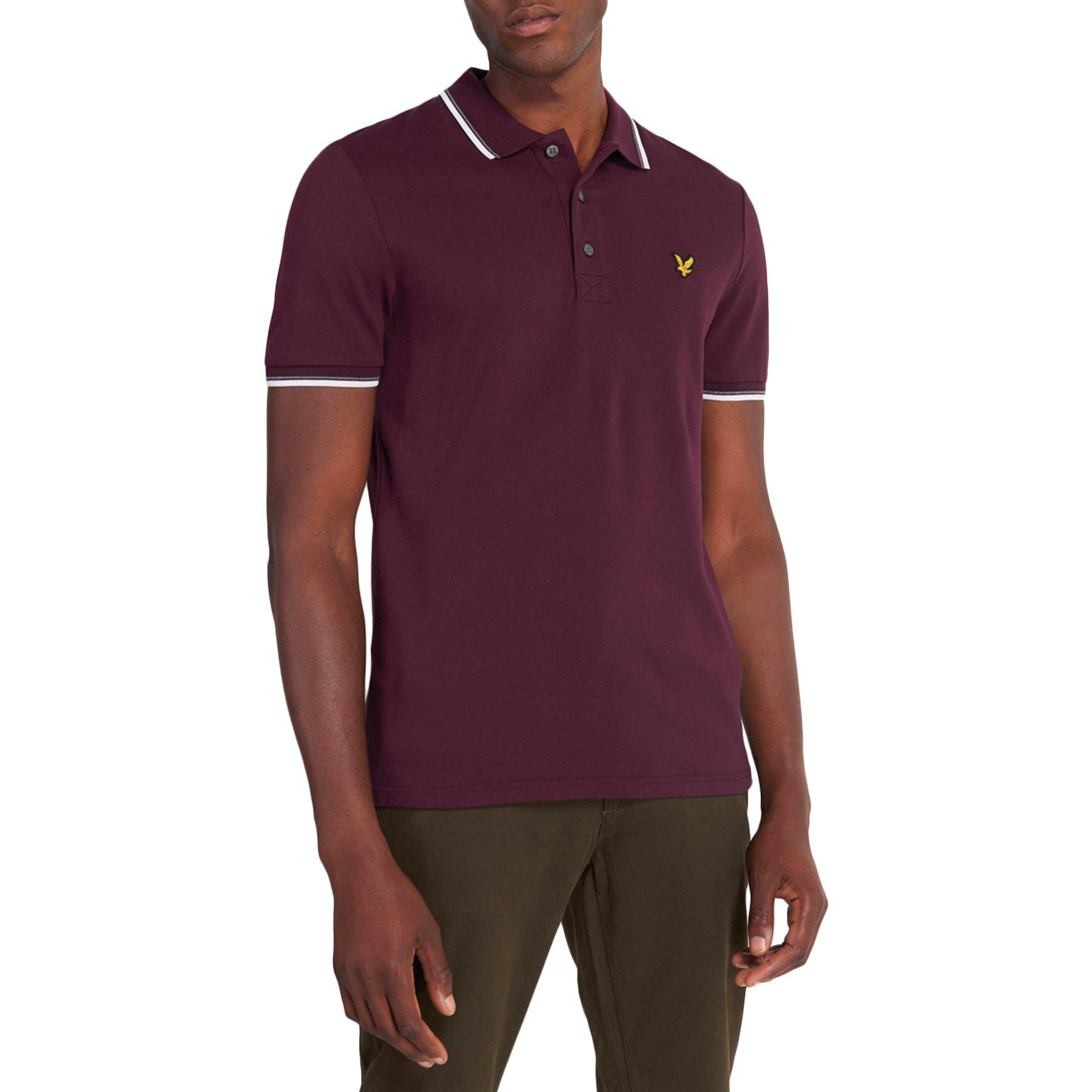 LYLE /& SCOTT  Short Sleeve Tipped Polo Shirt for Men/'s