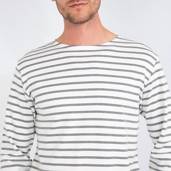 Armor Lux Marinière Herren Langarm-T-Shirt