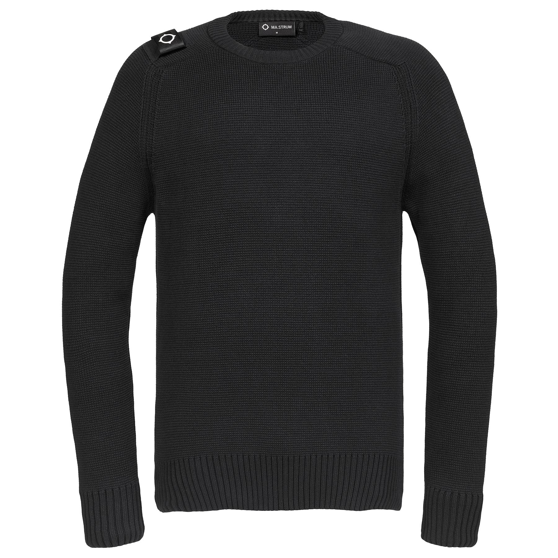 Black MA.STRUM Men/'s Milano Knit