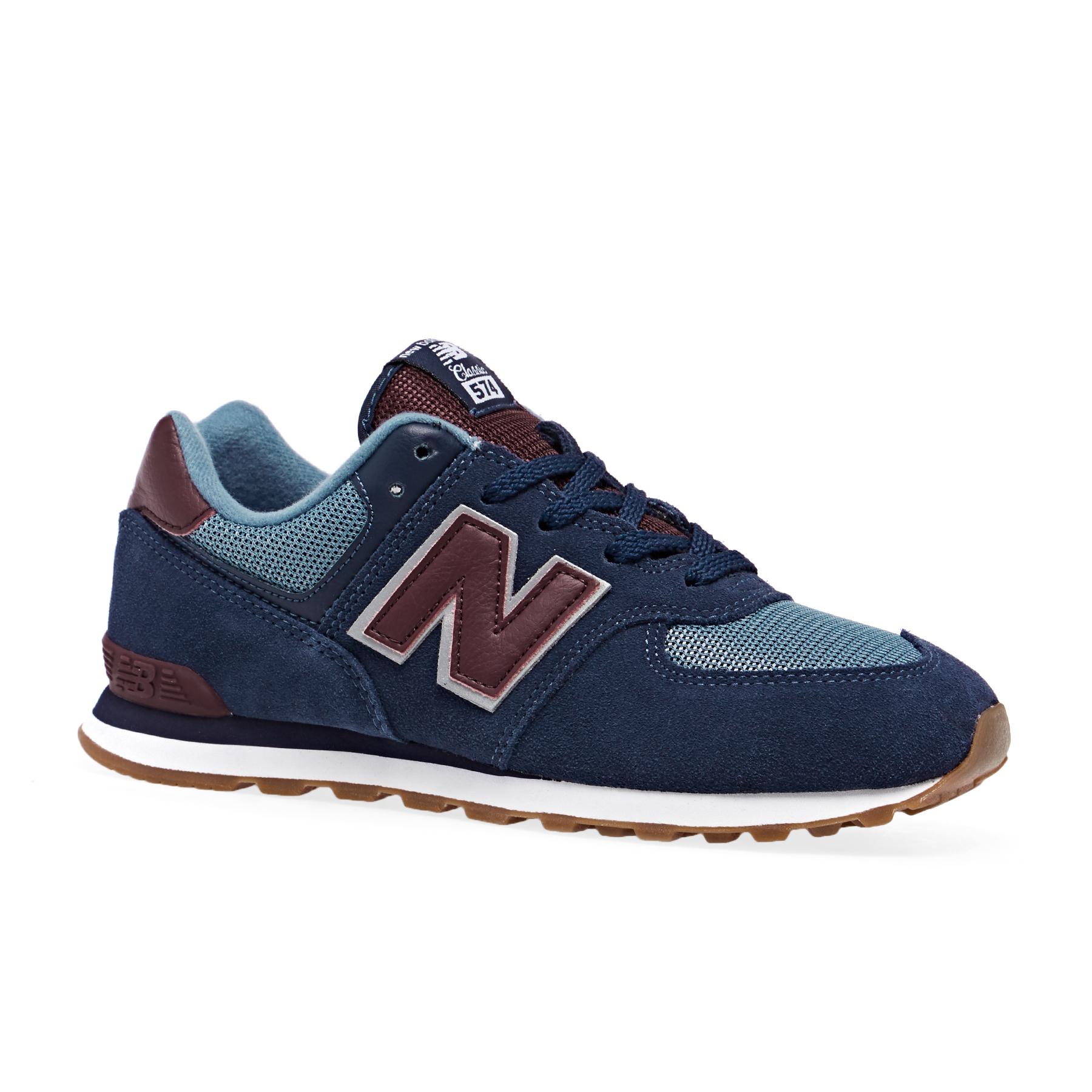 New Balance 574 Lace Kids Shoes - Free