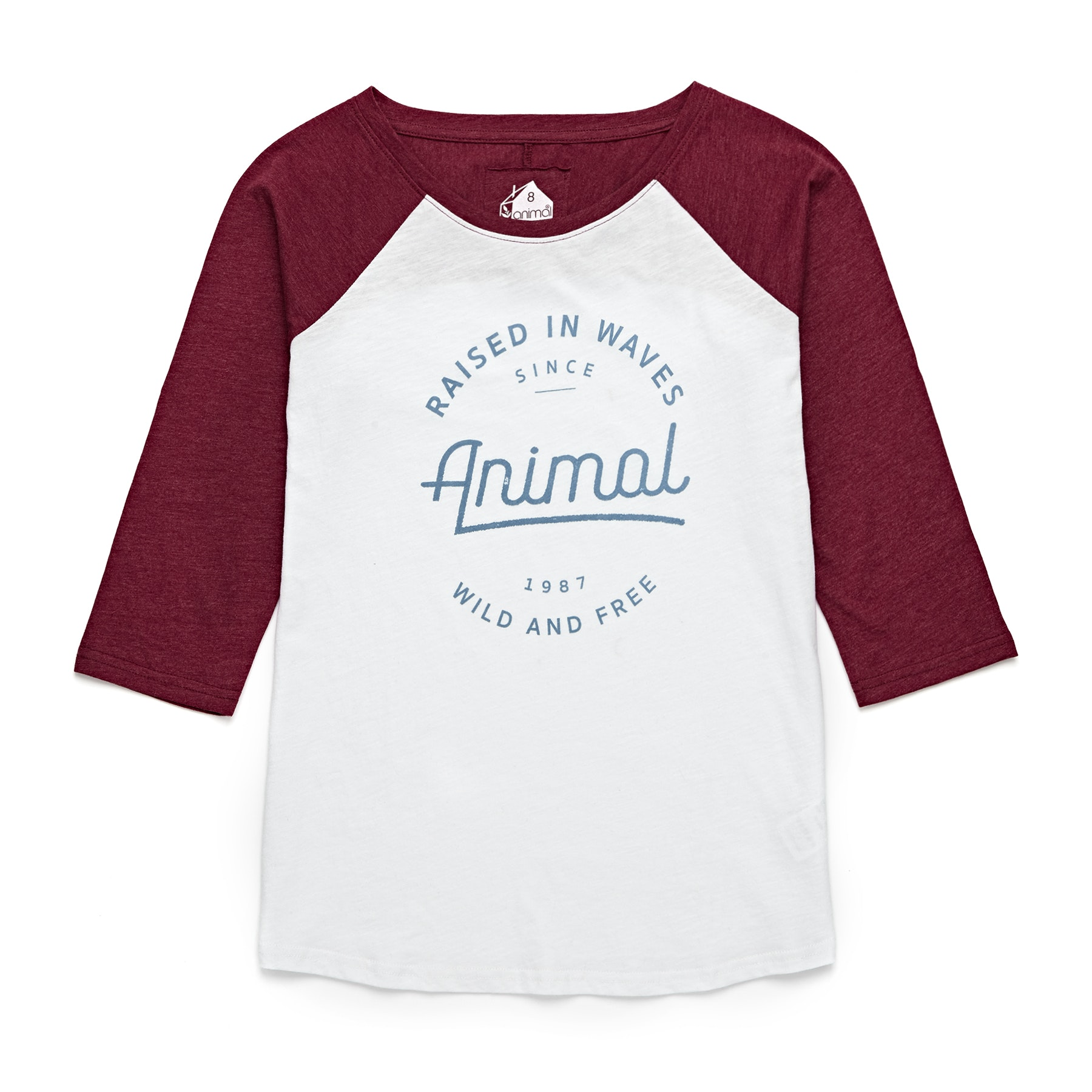 Animal Surf Clothing Long Sleeve Tee Dragon Red Wipeout Womens T-Shirt