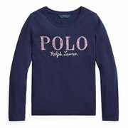 Polo Ralph Lauren Cotton Jesery Knit Girl's Long Sleeve T-Shirt