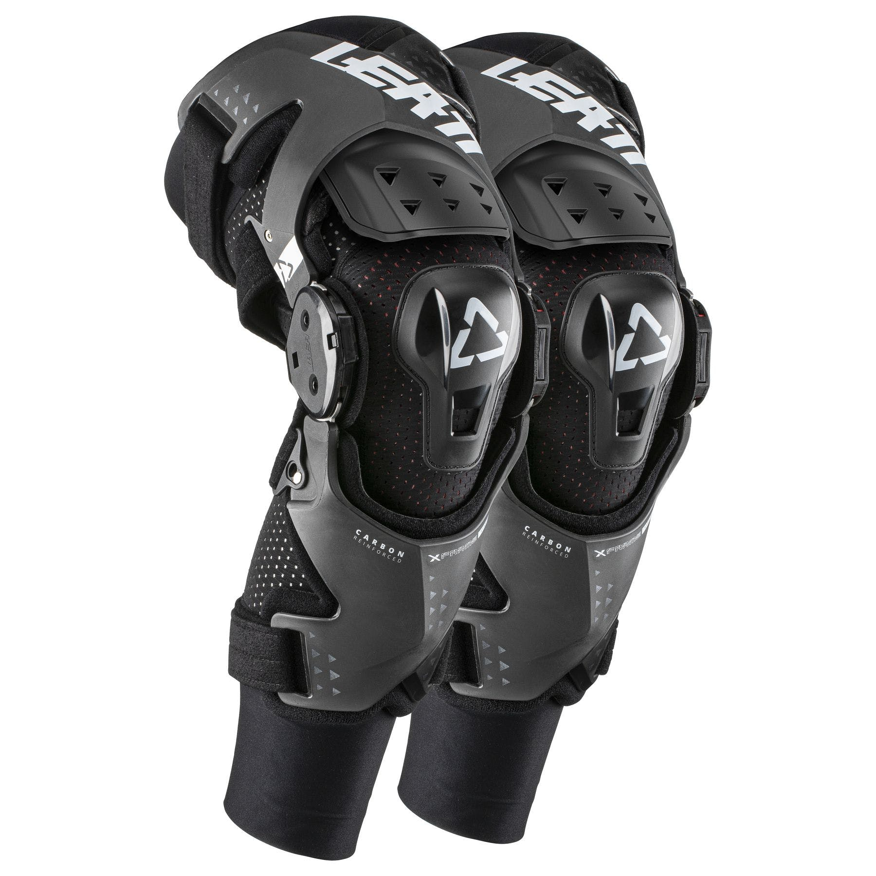 Pair Black Leatt Z-Frame Youth Knee Braces