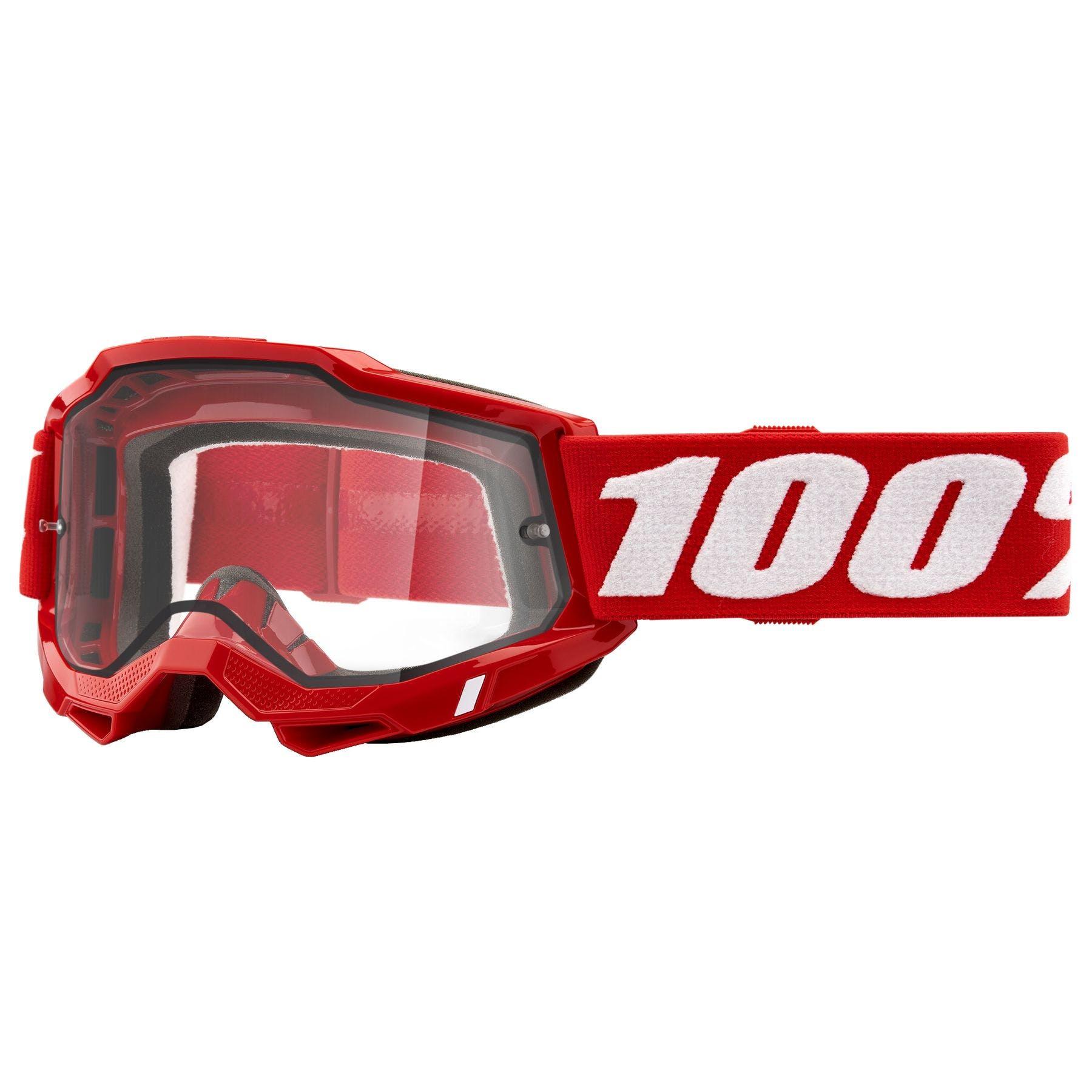 100/% Accuri Mens Off-Road//Dirt Bike Motorcycle Goggles Eyewear Black Tornado//Grey Smoke Lens One Size