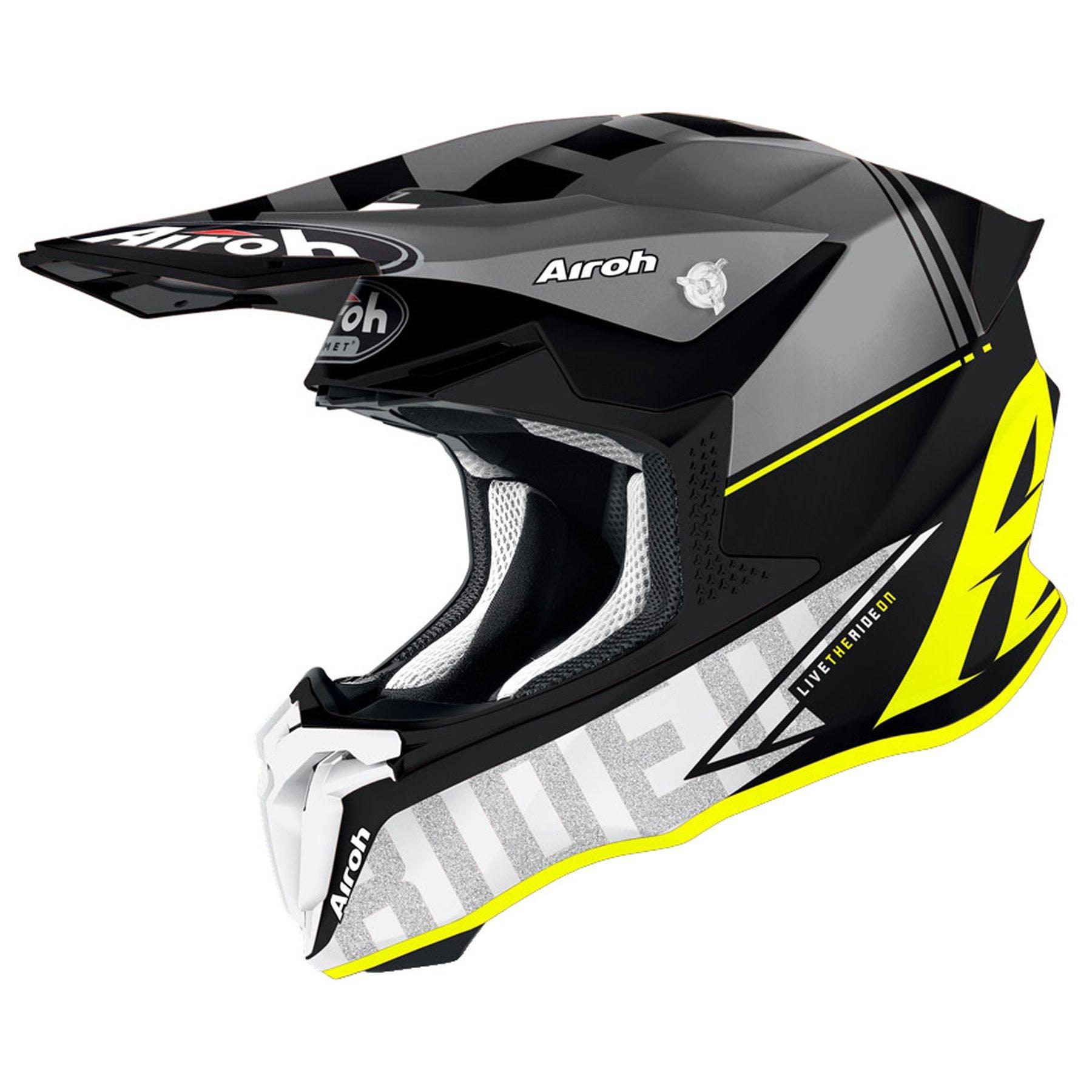 Motorcycle Helmet Free Shipping! Airoh Twist 2.0 Racr Gloss