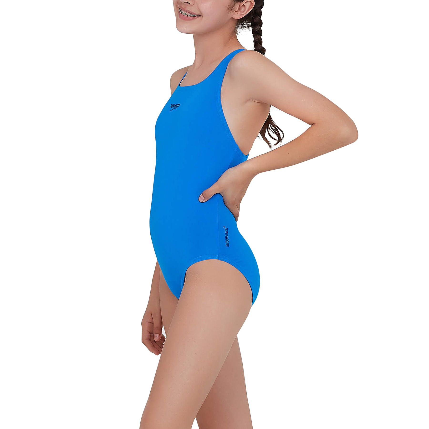 1PC NEW SPEEDO Girls Essential Medalist Op Light Jade Aqua Size 5 Endurance