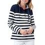 French Navy Cream Stripe