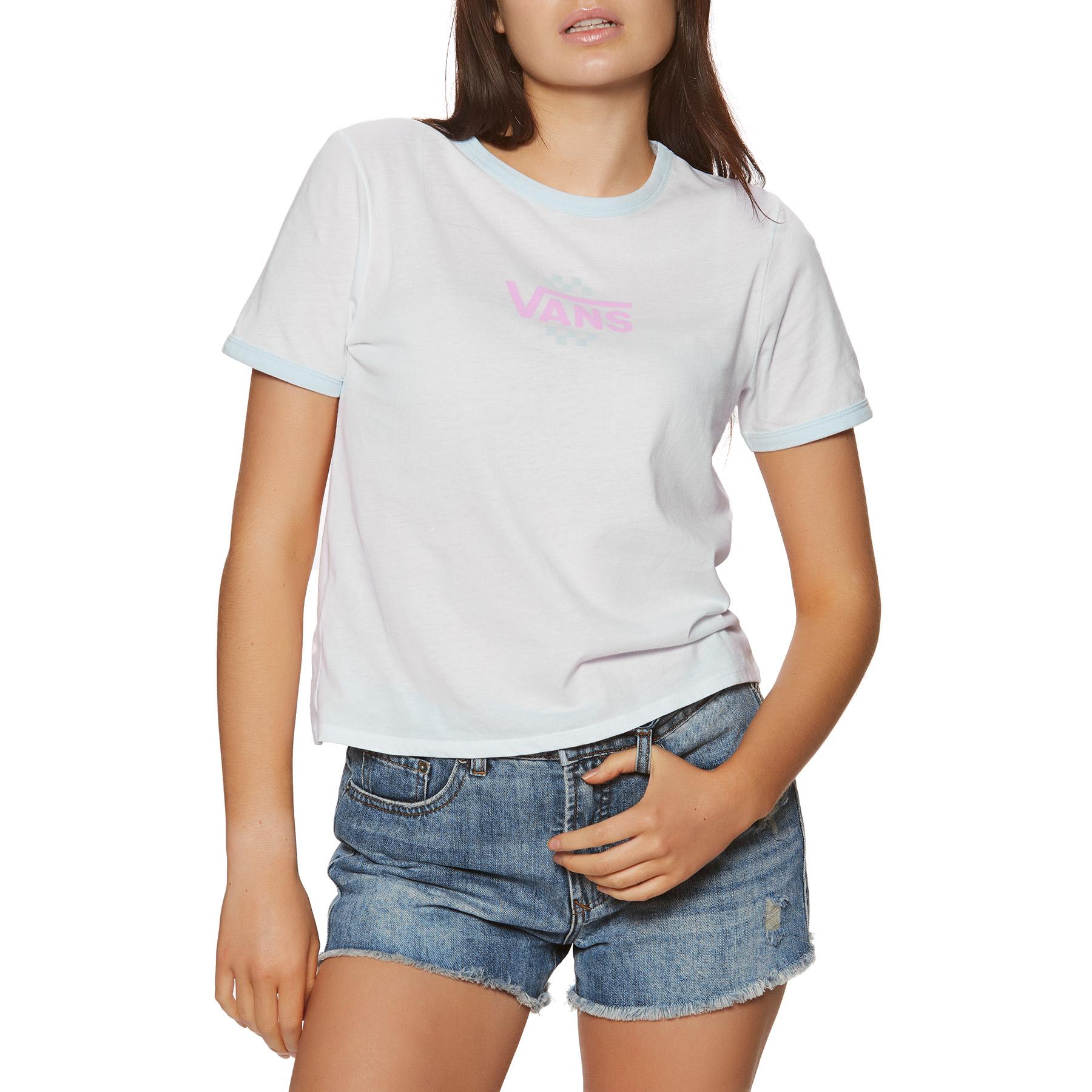 T-Shirt à Manche Courte Femme Vans Summer Schooler Ringer
