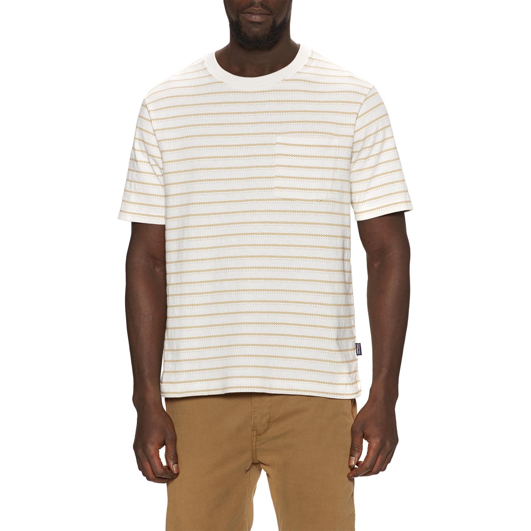 Patagonia Organic Cotton Midweight Pocket Mens Short Sleeve T-Shirt - Birch White