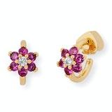 Kate Spade Flower Huggies Earrings - Pink