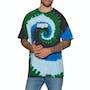 Dark Green Spiral Dye