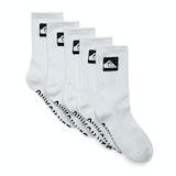 Fashion Socks Quiksilver 5 Pack Crew - White