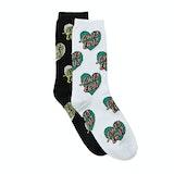 Santa Cruz Multi Heart Dot (2 Pack) Womens Fashion Socks - Assorted
