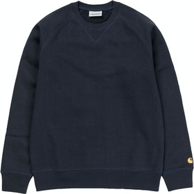 Carhartt Chase Sweater - Dark Navy Gold