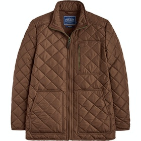 Joules Derwent Long Length Quilted Jas - Country Brown