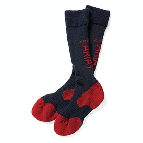 Ariat TEK Alpaca Socks - Navy Red