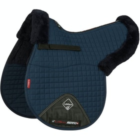 Tapis de selle LeMieux Merino+ Half Lined Cotton GP - Navy
