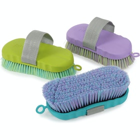 Shires Contour Ezi Groom Body Brush - Blue
