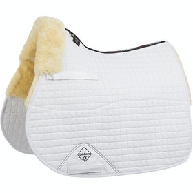LeMieux GP Half Lined Jumping Square , Sadeldyna - White