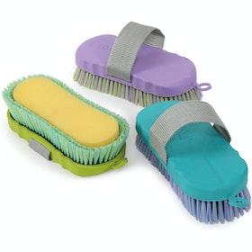 Shires Ezi Groom Shampoo Brush - Lilac