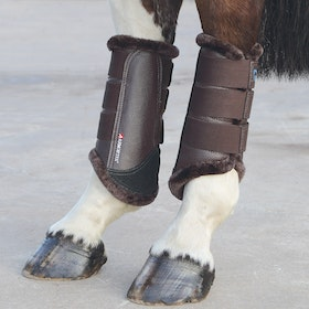 Shires ARMA Fur Trimmed Brushing Boot - Brown