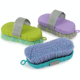 Shires Contour Ezi Groom Body Brush - Lime