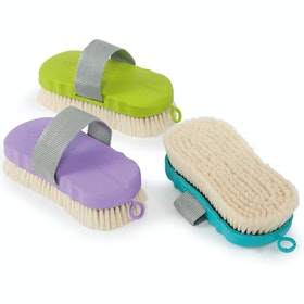 Shires Goat Hair Ezi Groom Body Brush - Lime