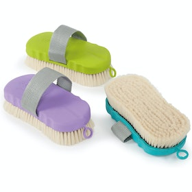 Shires Goat Hair Ezi Groom Body Brush - Blue