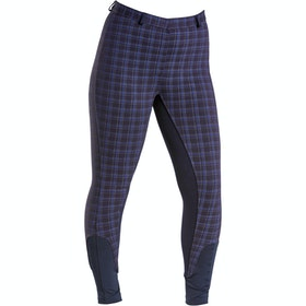 Firefoot Farsley Check Ladies Riding Breeches - Navy Check
