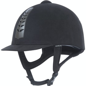Dublin Silver Pro Riding Hat - Black