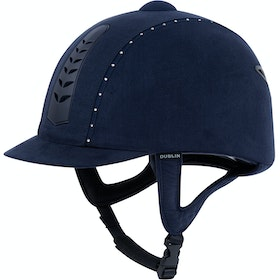 Dublin Silver Pro Diamante Riding Hat - Navy