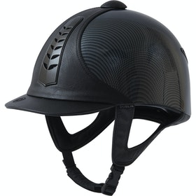 Dublin Silver Pro Graphic Riding Hat - Black