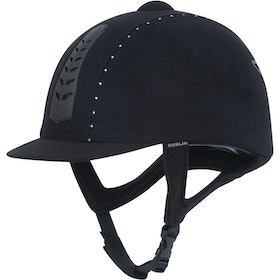 Dublin Silver Pro Diamante Riding Hat - Black