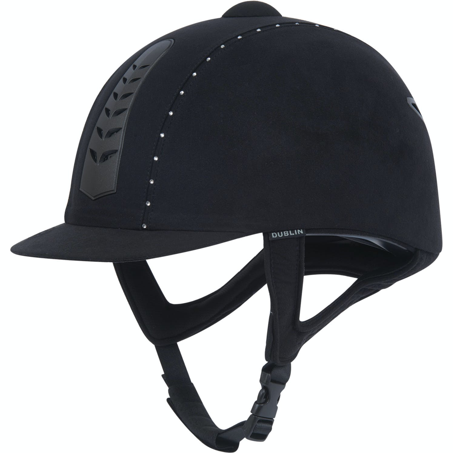 Dublin Silver Pro Diamante Riding Hat From Rideaway