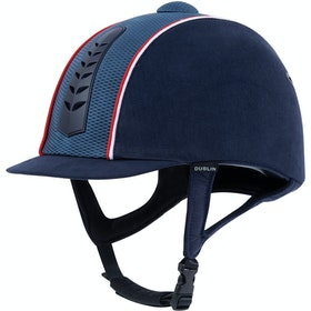 Dublin Silver Pro Piped Riding Hat - Navy