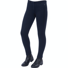 Jodhpurs Enfant Dublin Supa Fit Pull On Knee Patch - Navy