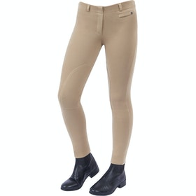 Jodhpurs Enfant Dublin Supa Fit Pull On Knee Patch - Beige