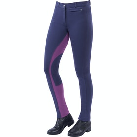 Jodhpurs Enfant Dublin Supa Fit Euro Seat Pull On - Graphite Purple