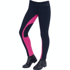 Jodhpurs Enfant Dublin Supa Fit Euro Seat Pull On - Navy Pink
