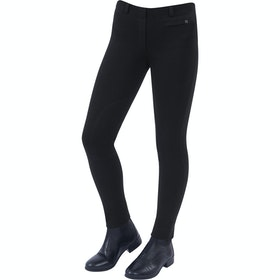 Jodhpurs Enfant Dublin Supa Fit Pull On Knee Patch - Black