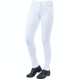 Jodhpurs Femme Dublin Supa Fit Zip Up Knee Patch - White