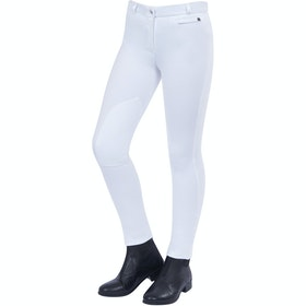 Jodhpurs Enfant Dublin Supa Fit Zip Up Knee Patch - White