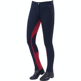 Jodhpurs Enfant Dublin Supa Fit Euro Seat Pull On - Navy Red