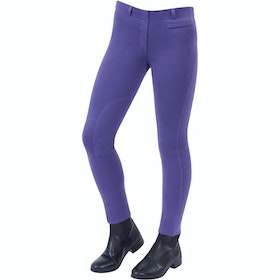 Jodhpurs Enfant Dublin Supa Fit Pull On Knee Patch - Purple