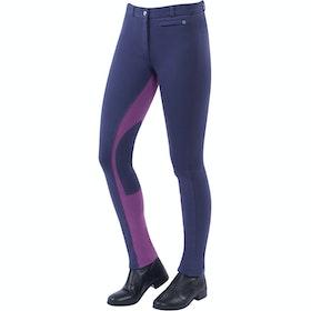 Dublin Supa Fit Euro Seat Zip Up Dames Jodhpurs - Graphite Purple
