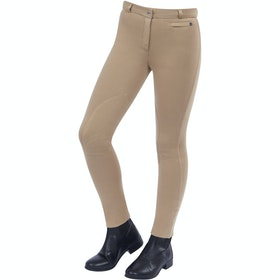 Jodhpurs Enfant Dublin Supa Fit Zip Up Knee Patch - Beige