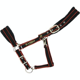 Rambo Padded Halfter - Black Tan Orange Black