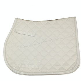 Rambo Non Slip Show Jumping Saddle Pad - White