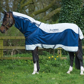 Rambo Summer Series 0g Turnout Rug - Navy Grey Navy